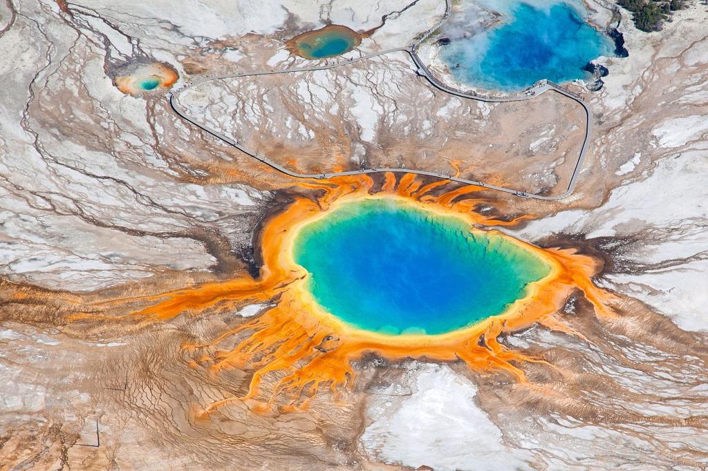 Grand Prismatic Spring, Wyoming, Usa