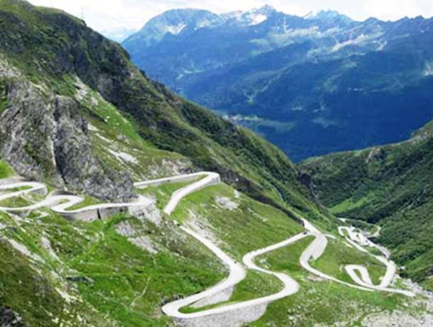 Drumul Stelvio Pass, Italia