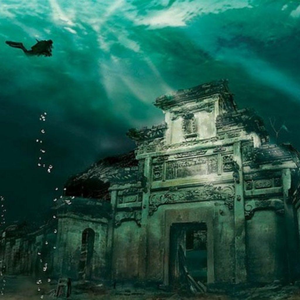orasul subacvatic shi cheng china