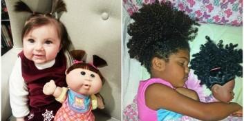 Copii care arata exact ca papusile lor