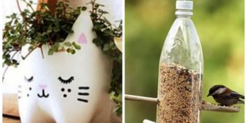 Idei creative de a recicla sticlele din plastic